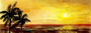 Hawaiian Sunset by aragonia