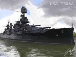 USS Texas by Helgezone