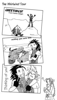 The Whirlwind Tour - FFVII:CC by Sharky-chan