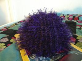 Purple Sea Urchin Baby Hat by ShellMinded