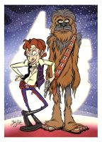 Han Solo and Chewbacca by Themrock