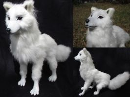 SOLD Ghost from Game of Thrones OOAK Art Doll by Lufirel