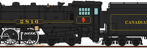 Canadian Pacific 2816 Black Livery by o484