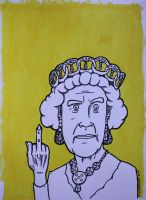 The Queen of England by PIGGHAMMER