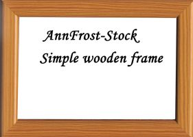 Simple wooden frame by AnnFrost-stock