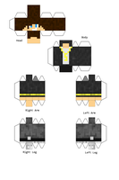 MultiPlayGameGuy - Papercraft by Dziuu-MC