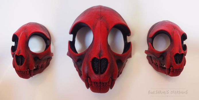 Red n Black Cat Skull by Bueshang