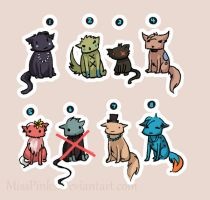 Cat Adoptables by MissPinks