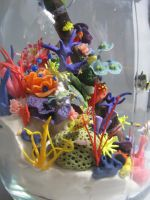 miniature coral reef sculpture by sneekyfox