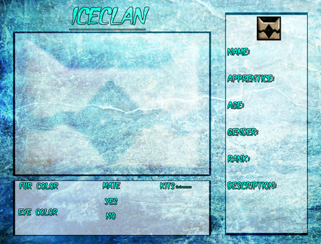 : Iceclan Reference Sheet : by CrystleWhiteWolf