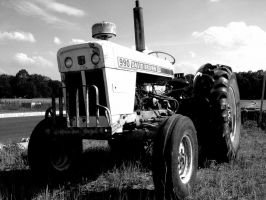Tractor bw by yellowcaseartist
