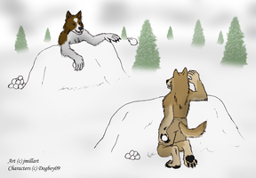 Snowball fight by jmillart