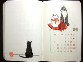 third page of 2012 calendar by wwei