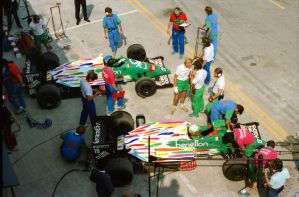 Teo Fabi | Gerhard Berger (Mexico 1986) by F1-history