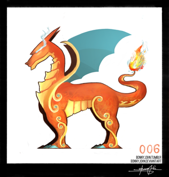 Charizard ! Pokemon One a Day by BonnyJohn