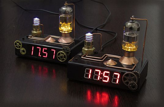 Steampunk digital clock by DoctorAlbert