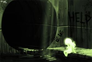 speedpainted Backgrounds 4: Sewer Fairy by Denimecho