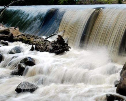 Late Spring Flood Spillway by The1ArtfulFox