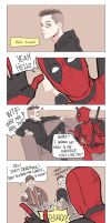 Mr.Robot n Deadpool by Hallpen