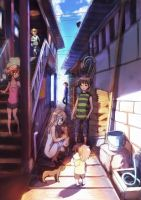 A back alley by ituki-t