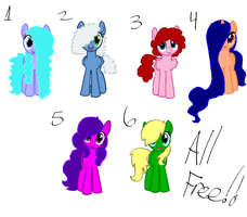 Free pony adopts 2 (CLOSED) by FallenFateAdopts