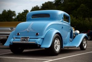 Ford Hot Rod, Blue - Rear by FurLined