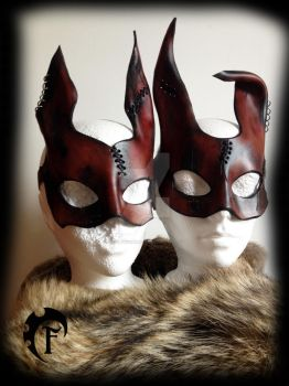 Crazy bunny mask couple by Feral-Workshop