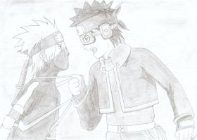 Kakashi and Obito by TetrisFreak