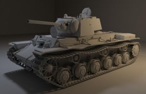 KV-1 tank by shareck