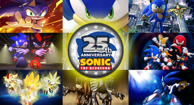 Sonic the Hedgehog - 25th ANNIVERSARY by FreeHeart44