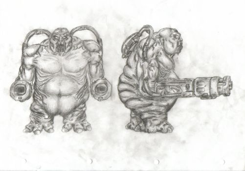 Mancubus front and side by d-sm