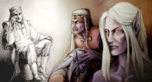 drow elf by yuhime