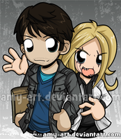 Nick and Hexenbiest - Grimm by amy-art