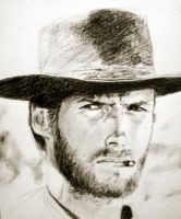 Clint Eastwood by bonzobonham