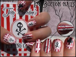 Tim Burton nails by Ninails