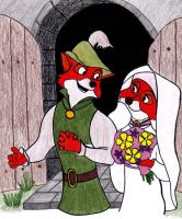 Robin Hood and Maid Marian by disney-fairy