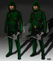 Arrow/Flash Concept: Arrow Suit Update by IronAvenger1234