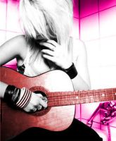 Pink Guitar. by chiosxe