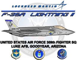 F-35A Poster 309th Fighter Sq by viperaviator
