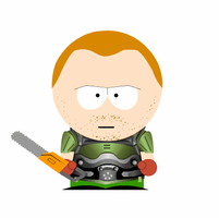 Doom-guy goes South Park by Cyborgchimp