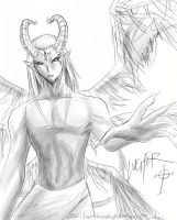 Lucifer sketch by slifertheskydragon