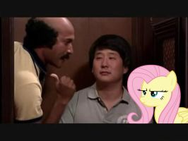 Coach Hines With Bae Sung and Fluttershy by RicRobinCagnaan