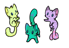 Chibi Cats Adoptables [Closed] by fromage-bleu
