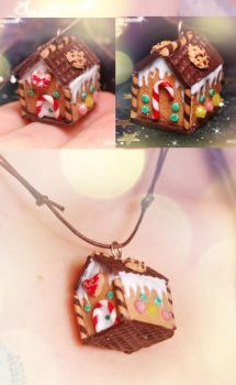 Gingerbread House - Necklace by Jeyam-PClay