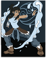 Shadowbox Mock-up:  Avatar Korra by The-Paper-Pony