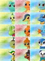 All Pokemon Starters by AlenaChen