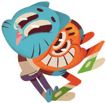 gumball and darwin by spizzyfizz