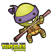 Donatello - Kawaii Mutant Ninja Turtles by SquidPig