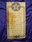 Wiccan Rede pyrography by WOODEWYTCH