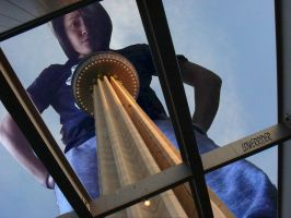 MegaStephie at the tower by lowerrider